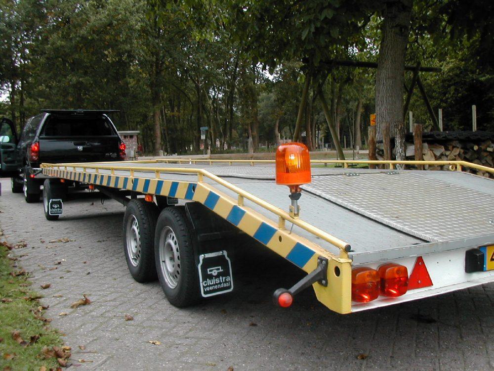 Aanhanger - schamel autotransporter