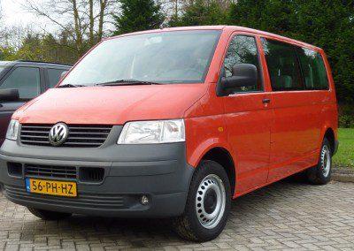 Volkswagen – Vw Transporter 1.9 Kombi TDI 77KW 2004 Rood 9 persoons