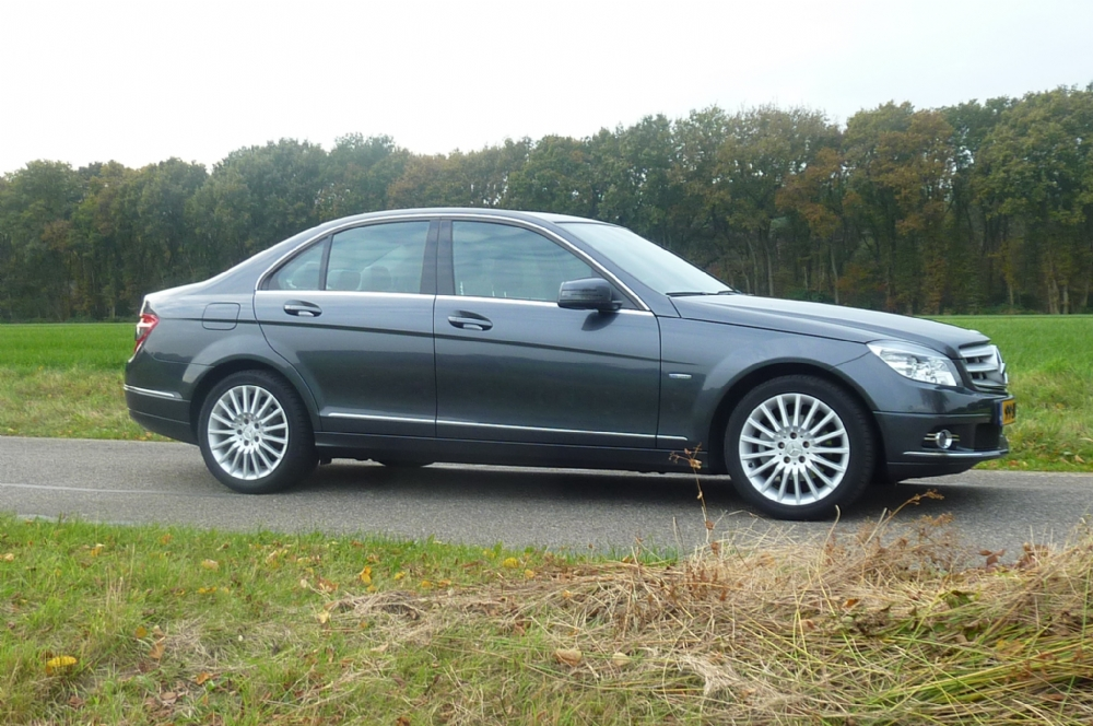 Mercedes-benz - Mercedes C-180 Kompr. 2009 Grijs full options groot navi